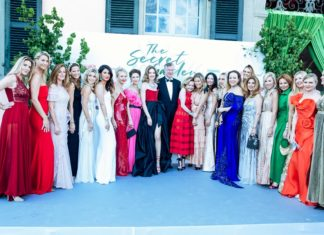 Natalia Vodianova and the Gala Committee attend The Naked Heart Foundation The Secret Garden Charity Gala on June 13, 2019 in Geneva, Switzerland