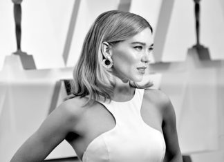 HOLLYWOOD, CALIFORNIA - FEBRUARY 09: (EDITOR'S NOTE: Image has been converted to black and white.) Léa Seydoux attends the 92nd Annual Academy Awards at Hollywood and Highland on February 09, 2020 in Hollywood, California. (Photo by Jeff Kravitz/FilmMagic)