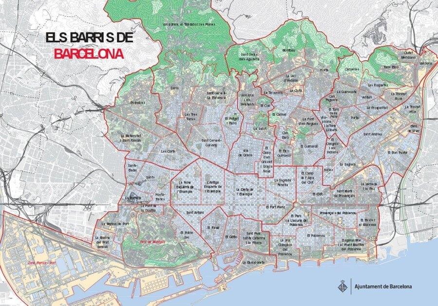 Los barrios de Barcelona