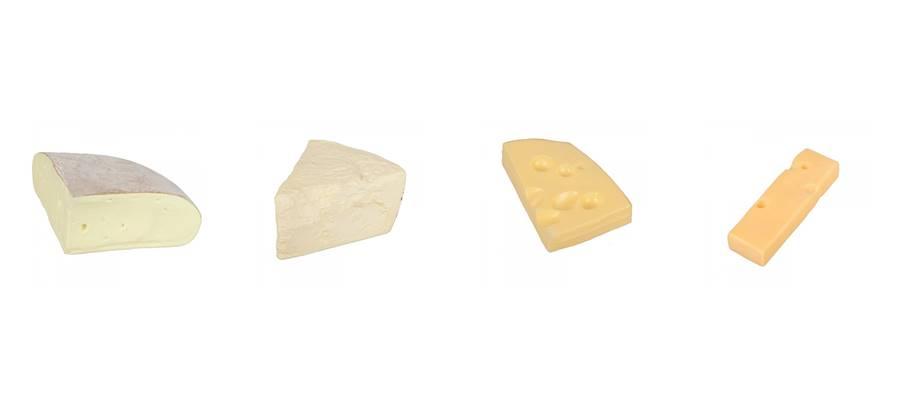 imitacion quesos de plastico