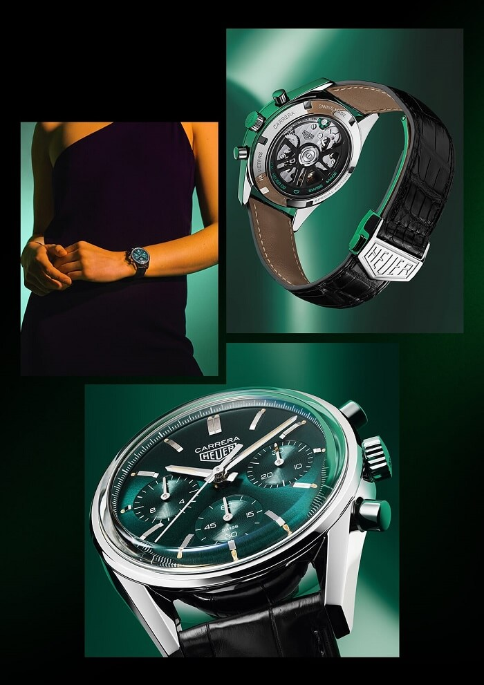 TAG HEUER CARRERA GREEN - Reloj Cronógrafo automático - Diámetro 39 mm
